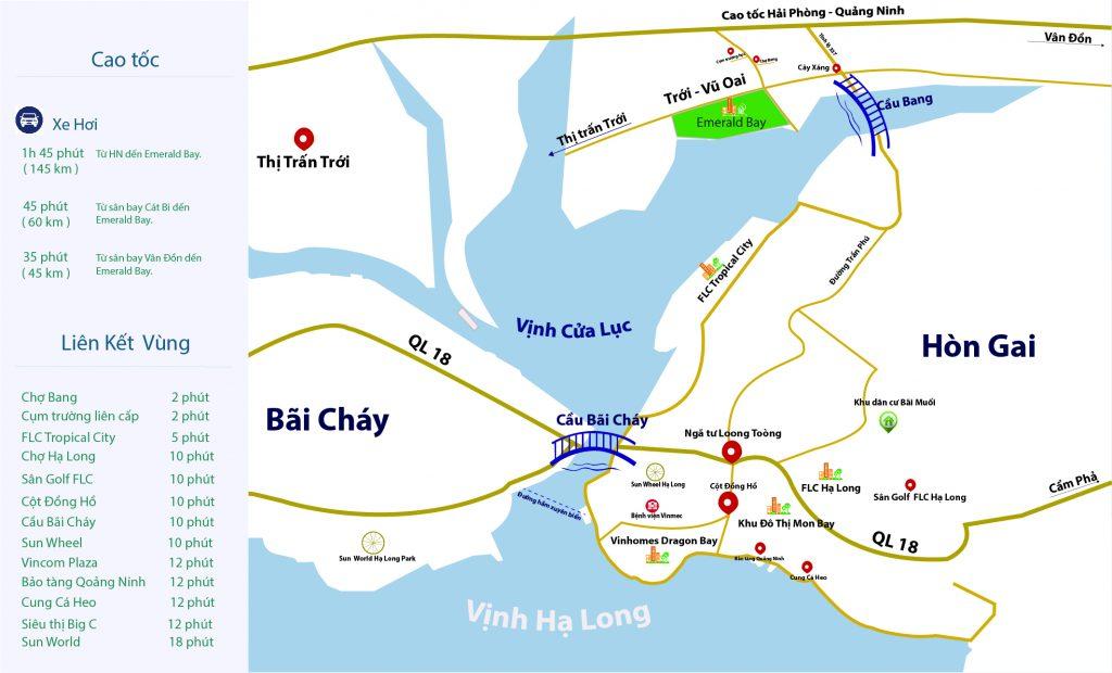 Liên kết vùng dự án Emerald Bay Hoành Bồ