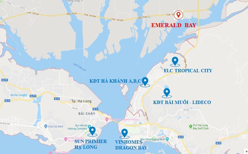 Vị trí dự án Emerald Bay Hoành Bồ
