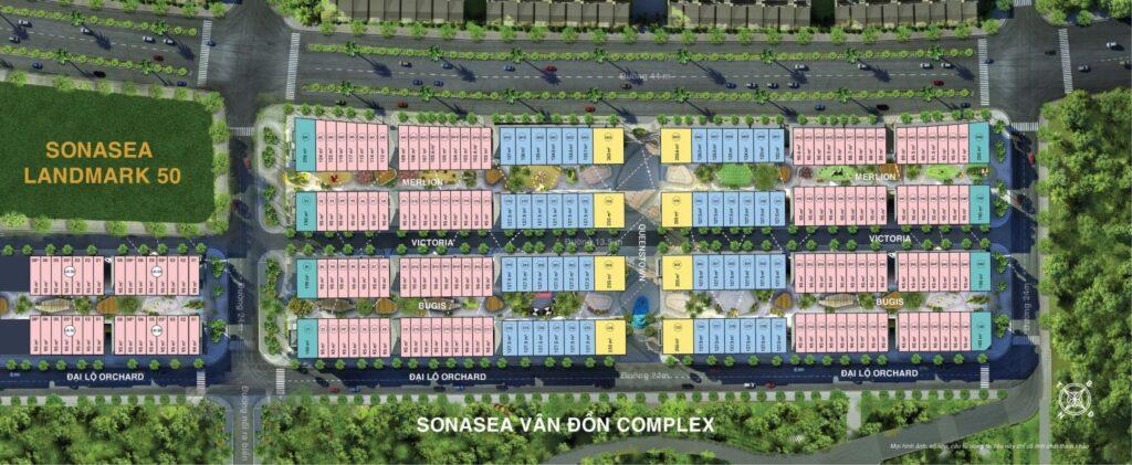 Mặt bằng phân khu dự án Sonasea Harbor City Vân Đồn