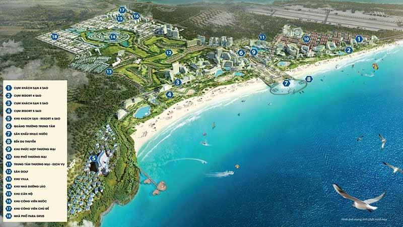 Tổng thể tiện ích dự án KN Paraside Cam Ranh
